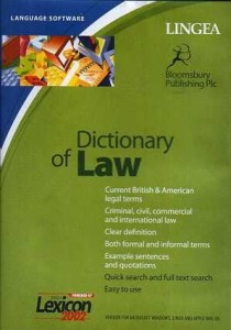 DICTIONARY OF LAW CD